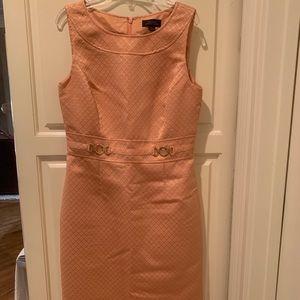 Size 4 Coral Below the Knee Tahari Dress